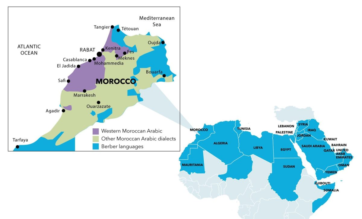 Moroccan-Arabic-map-dialect